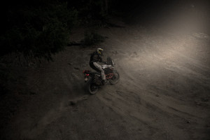 Night riding with LED headlight bulbs