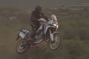 The New Africa Twin ridden off-road