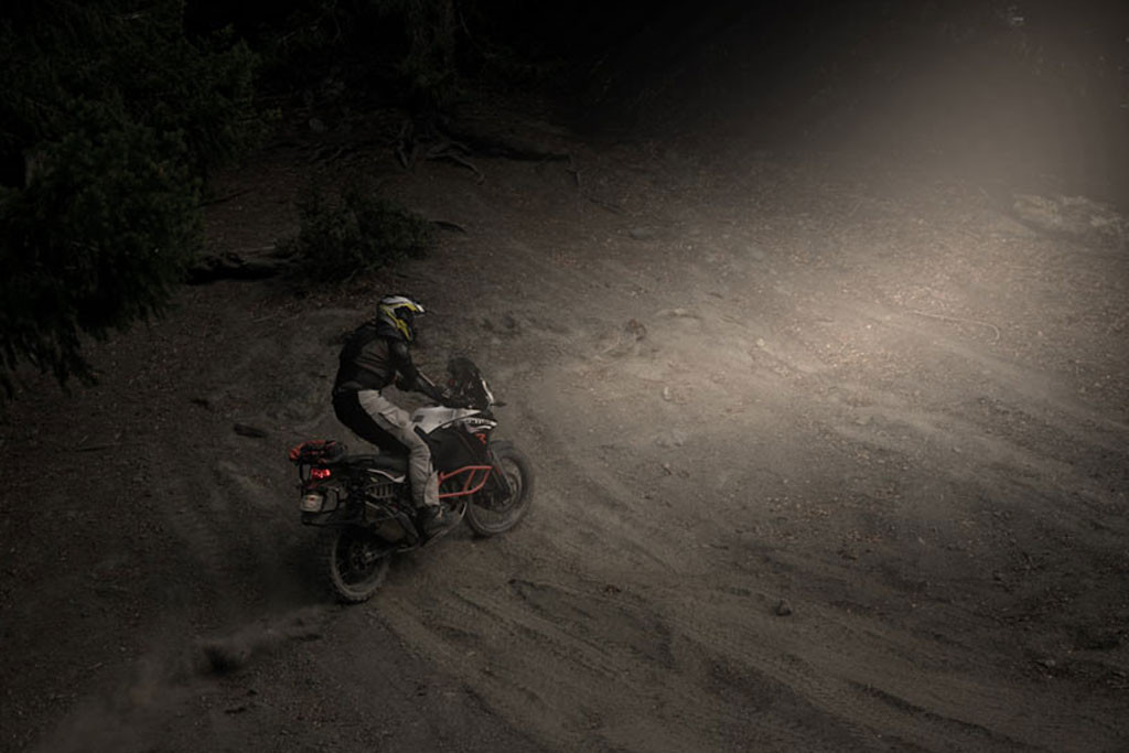 Night riding with LED headlight bulbs