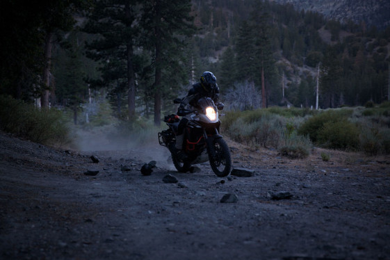 riding with stock KTM 1190 Adventure halogen headlight bulb