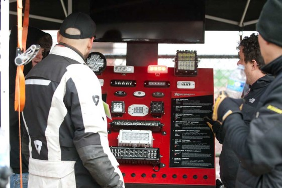Rigid Industries LED lights booth