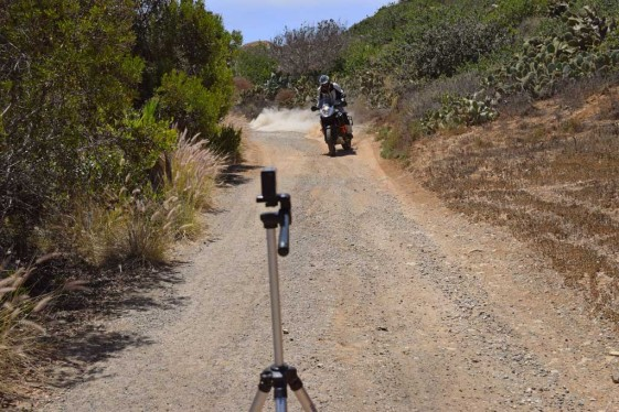 Sena handlebar remote used to control the prism action camera