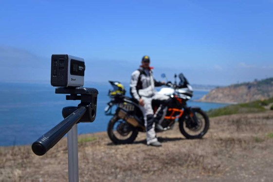 The Sena handlebar remote and Prism camera can produce great scenic shots