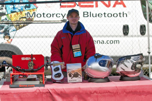 Sena booth at overland expo