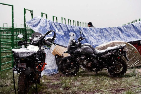 Snowing at overland expo 2015