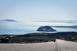 Baja Motorcycle Tour view Sea of Cortez
