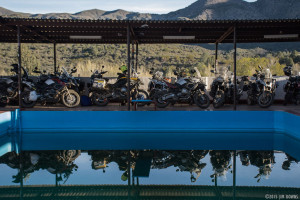 Adventure Motorcycles at Mike's Sky Ranch in Baja Mexico