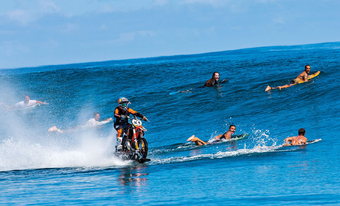 History Is Made As Motorcycle Surfs Giant Tahitian Wave Adv Pulse