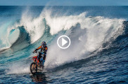 Robbie Maddow on KTM SX 250 water bike in Tahiti