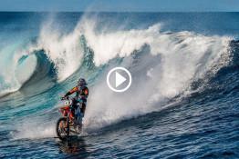 Robbie Maddow on KTM SX 250 water bike in Tahiti