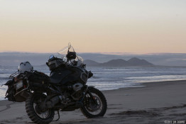 Sunset in San Quintin Baja Motorcycle Tours
