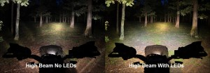 high beam LED handguard light comparo