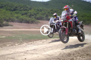 Joan Barreda and Marquez ride the new africa twin