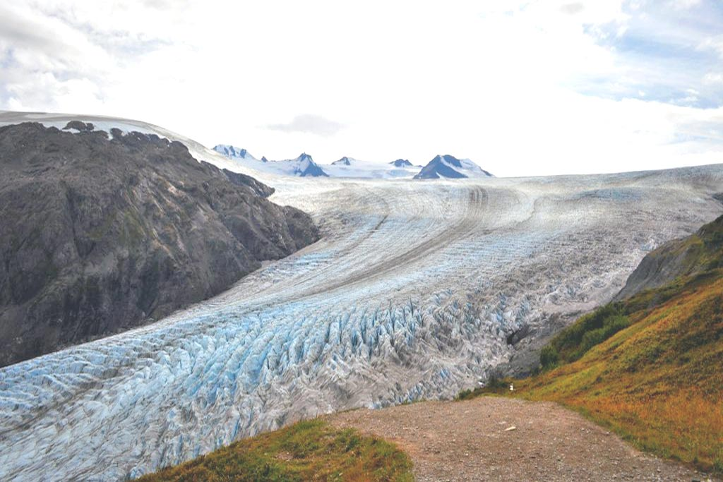 Harding Ice Field in Crown Point Alaska