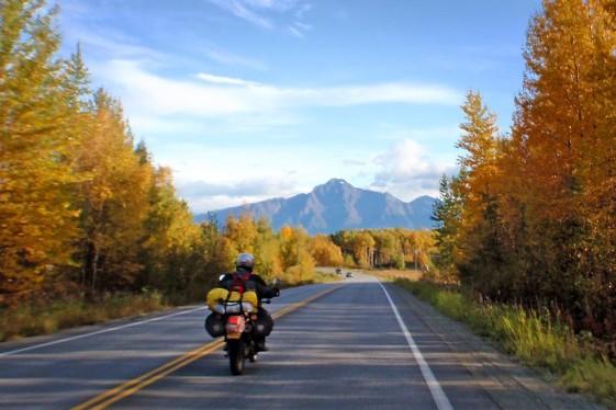 Hope Road in Alaska motorcycle trip