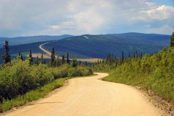 Top of the World Highway Alaska Motorcycle Trip