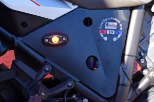 Black Dog heat shield side running lights