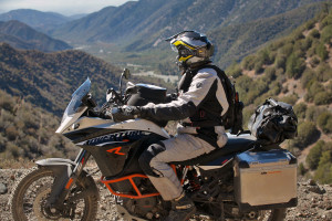 Inspecting the view from the KTM 1190 Adventure R