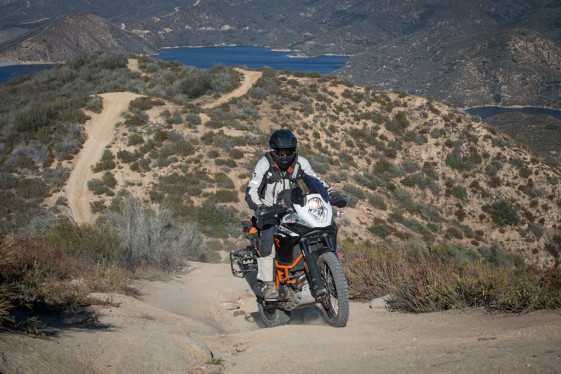 KTM 1190 adventure r lake silverwood climb