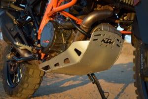 KTM 1190 adventure r skidplate withstood abuse