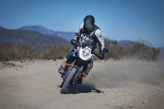 KTM 1190 adventure r sliding sideways