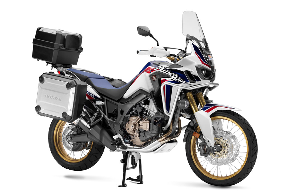 the new africa twin gets farkled with factory accessories adv pulse. Black Bedroom Furniture Sets. Home Design Ideas