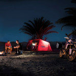 CRF1000L Africa Twin camping