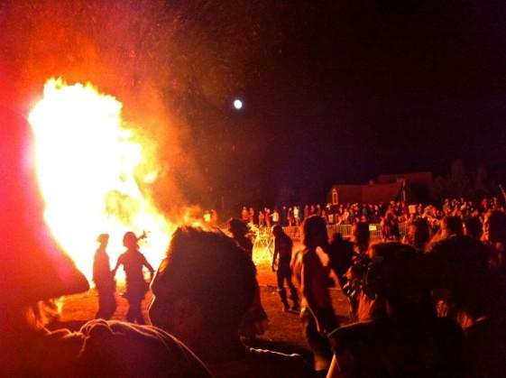 Vinotok Festival Burning of the Grupm