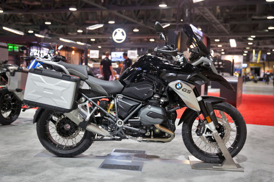 2016 BMW R1200GS Triple Black at the Long Beach International Motorcycle Show