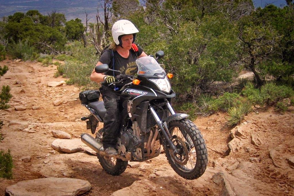Jenny Morgan Riding Moab on a CB500X Adventure