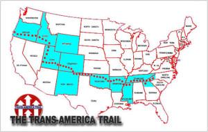 trans america trail map
