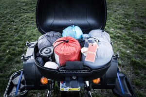 packing for two up motorcycle travel