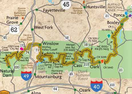 Devils Den Arkansas Map.Top 7 Motorcycle Rides In Arkansas For Adventure Riders