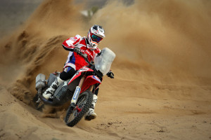 Ricky Brebrec on the CRF450 Rally