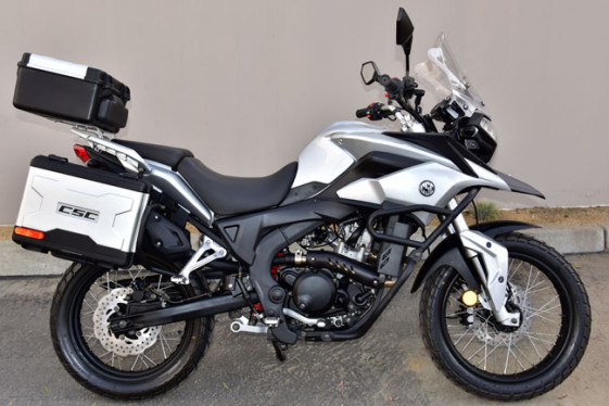 CSC Cyclone RX-3 250cc Metallic Sierra Silver Adventure and Dual Sport