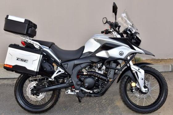 CSC Cyclone RX-3 250cc Metallic Sierra Silver Adventure and Dual Sport