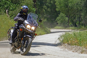 v-strom 650 review gravel road