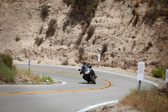 v-strom 650 twisty roads cornering