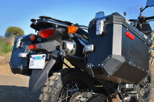 2015 Suzuki V-Strom 650 XT aluminum panniers