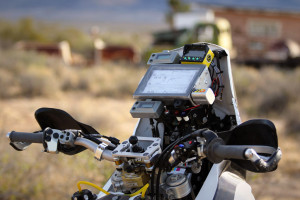 KTM 450 rally road book and navigation equipment