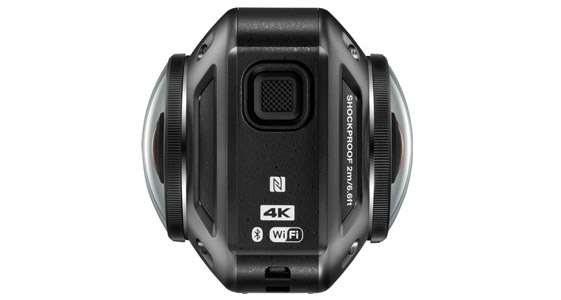 Nikon KeyMission 360 Action Camera capable of 360-degree 4k footage.