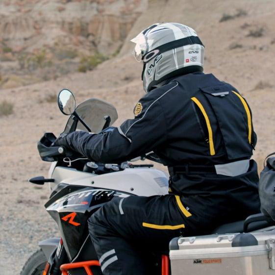 Adventure Motorcycle Gear- Battle Born Jacket cooling vents