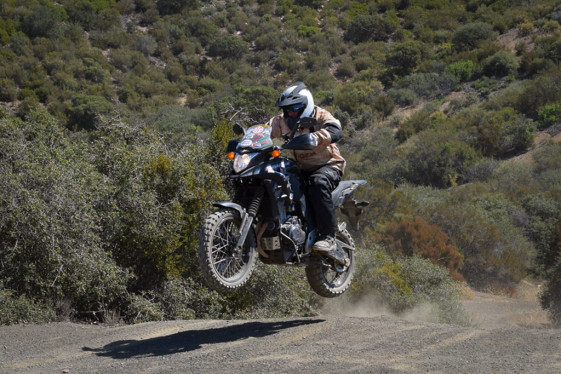 Jumping the CB500X off-road