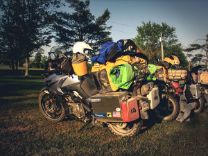 overpacking long-distance motorcycle trip
