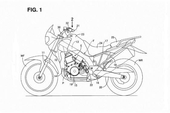 2017 Honda NX650 Dominator patent