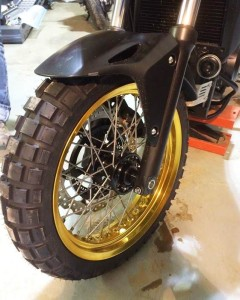 Honda CB500X gold wire-spoked rims