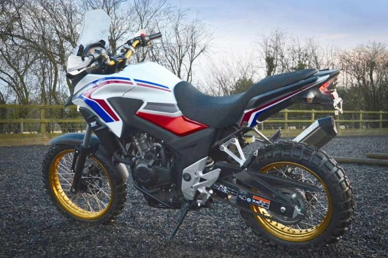 Rally Raid CB500X Adventure heritage colors