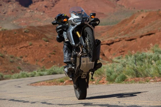 New Africa Twin with DCT wheelie test
