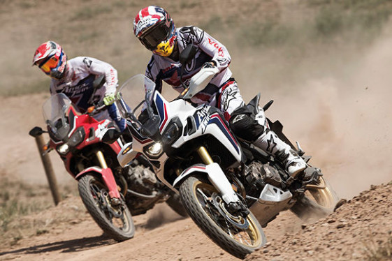 Marc Marquez and Joan Barreda new Africa Twin test