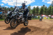 Jumping GSs at the Overland Expo West